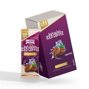 Musclecheff High Protein Iced Coffee Espresso 10 Adet
