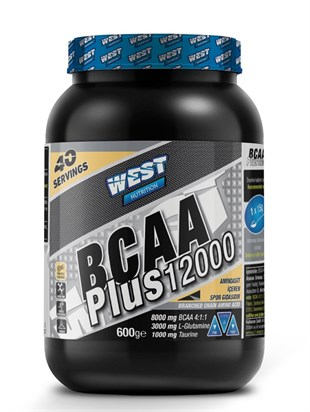 West Nutrition Bcaa Plus 12000 4:1:1 + Glutamin + Taurin 40 Servis Ananaslı