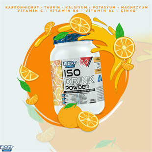 West Nutrition Iso Drink Powder İzotonik Sporcu İçeceği 1000 gram (50 servis)Intra Workout