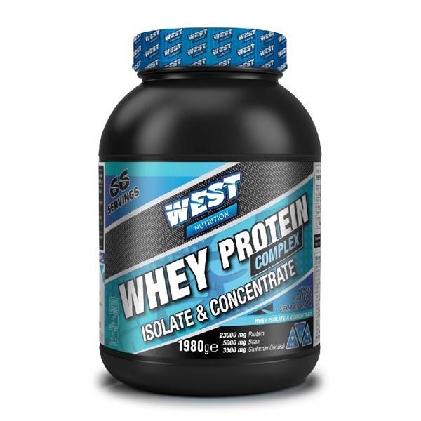 West Nutrition Whey Protein Complex Isolate & Concentrate 1980 gram ÇikolatalıWest Nutrition Whey Complex Isolate & Concentrate 1980 gram izole konsantre whey proteini Whey Protein